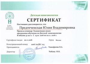 Сертификат_Гимнасика мозга программы обучения по Детской кинезиологииs